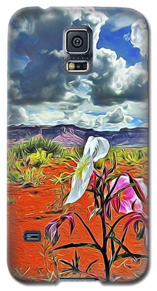 Galaxy S5 Case featuring the digital art Desert Primrose 3 by William Horden