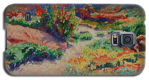 Galaxy S5 Case featuring the painting Desert Spring Flowers Namaqualand by Thomas Bertram POOLE