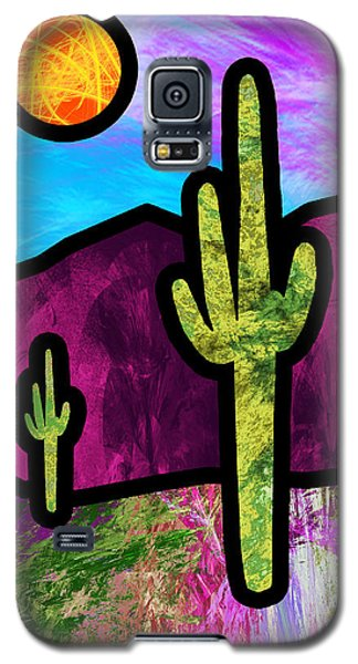 Desert Stained Glass Galaxy S5 Case by Methune Hively