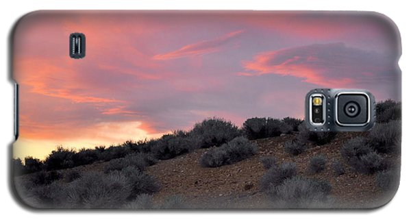 Galaxy S5 Case featuring the photograph Desert Sunset by AJ  Schibig