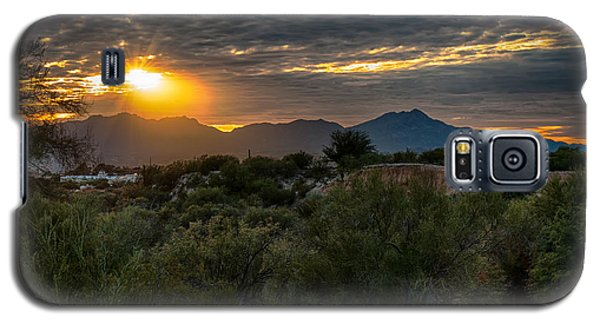 Galaxy S5 Case featuring the photograph Desert Sunset by Dan McManus
