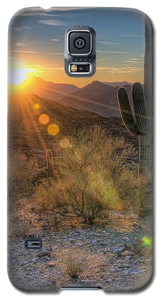Desert Sunset Galaxy S5 Case by Eddie Yerkish