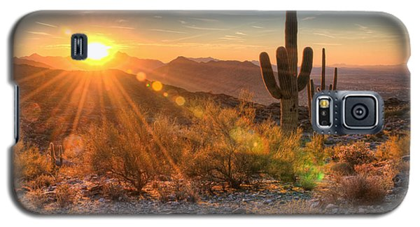 Desert Sunset II Galaxy S5 Case by Eddie Yerkish