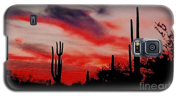 Desert Sunset Northern Lights Version 3 Galaxy S5 Case by Joseph Baril