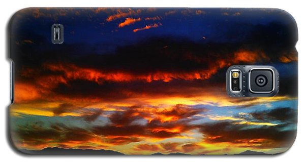 Galaxy S5 Case featuring the photograph Desert Winter Sunset  by Chris Tarpening