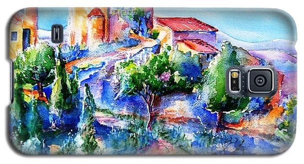 Galaxy S5 Case featuring the painting Deserted Village Of Perillos  by Trudi Doyle