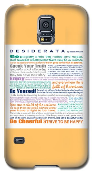 Desiderata - Multi-color - Square Format Galaxy S5 Case