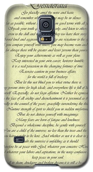 Desiderata Gold Bond Scrolled Galaxy S5 Case