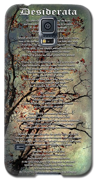 Desiderata Inspiration Over Old Textured Tree Galaxy S5 Case by Christina Rollo