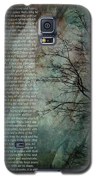Desiderata Of Happiness - Vintage Art By Jordan Blackstone Galaxy S5 Case by Jordan Blackstone