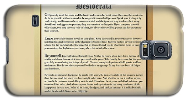 Desiderata Old English Square Galaxy S5 Case by Christina Rollo