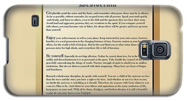 Desiderata Old English Square Galaxy S5 Case
