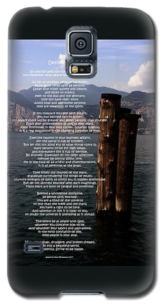 Desiderata On Lake View Galaxy S5 Case