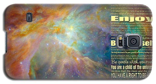 Desiderata - Space Galaxy S5 Case by Ginny Gaura