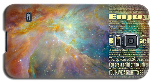 Desiderata - Space Galaxy S5 Case