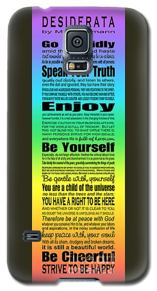 Desiderata - Subway Style - Rainbow Galaxy S5 Case