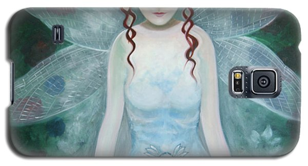 Galaxy S5 Case featuring the painting Desmoiselle Libellule by Tone Aanderaa