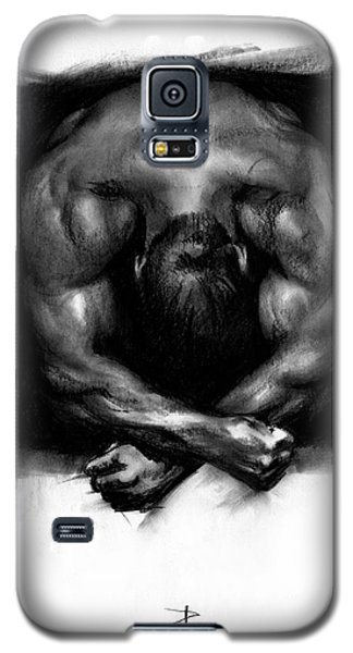 Galaxy S5 Case featuring the drawing Despondent by Paul Davenport