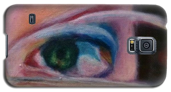 Detail Galaxy S5 Case - Detail From Portrait Of Chrissy An Acrylic Painting By Anna Porter Artist by Anna Porter