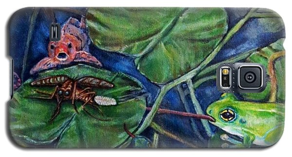 Galaxy S5 Case featuring the painting Detail Of Day Of Judgment For A Pesky Mosquito  by Kimberlee Baxter