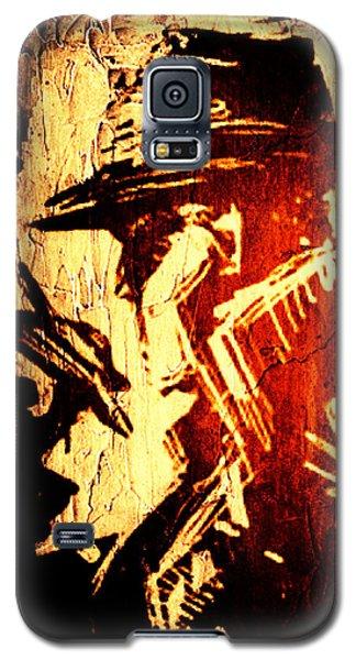 Galaxy S5 Case featuring the digital art Detective Portrait by Andrea Barbieri