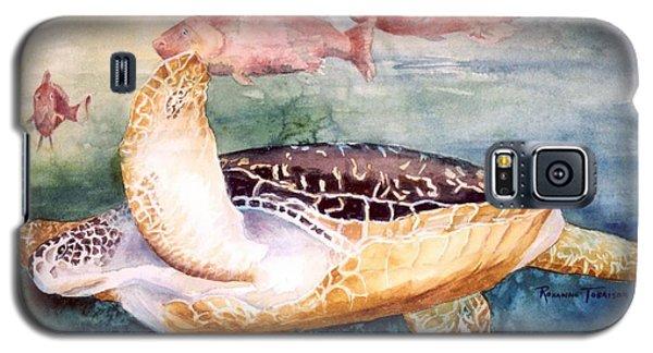 Determined - Loggerhead Sea Turtle Galaxy S5 Case by Roxanne Tobaison