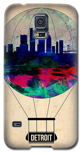 City Scenes Galaxy S5 Case - Detroit Air Balloon by Naxart Studio