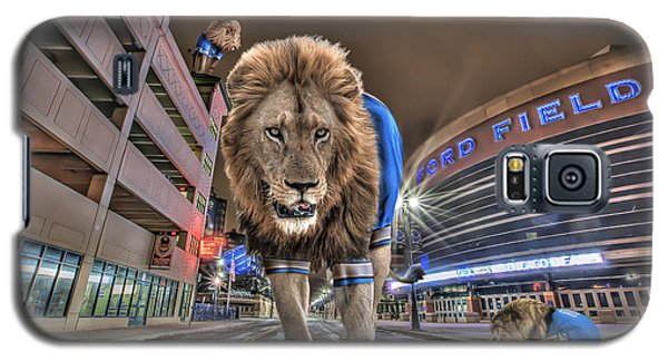 Galaxy S5 Case featuring the photograph Detroit Lions At Ford Field by Nicholas  Grunas