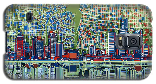 Detroit Skyline Abstract 3 Galaxy S5 Case