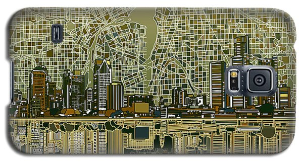 Detroit Skyline Abstract 4 Galaxy S5 Case
