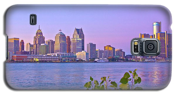 Detroit Skyline At Sunset Galaxy S5 Case by Bill Woodstock
