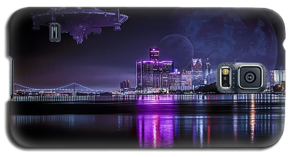 Galaxy S5 Case featuring the photograph Detroit Worlds by Nicholas  Grunas