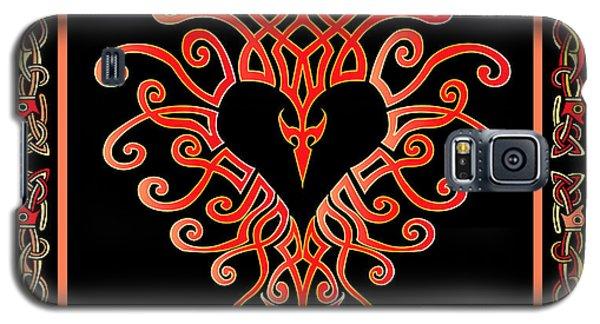 Galaxy S5 Case featuring the digital art Devil's Heart by Vagabond Folk Art - Virginia Vivier