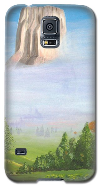 Galaxy S5 Case featuring the painting Devil's Tower  by Phyllis Kaltenbach