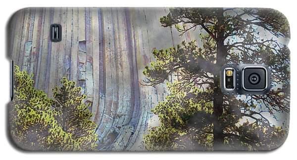 Galaxy S5 Case featuring the photograph Devil's Tower Wyoming by Ann Johndro-Collins