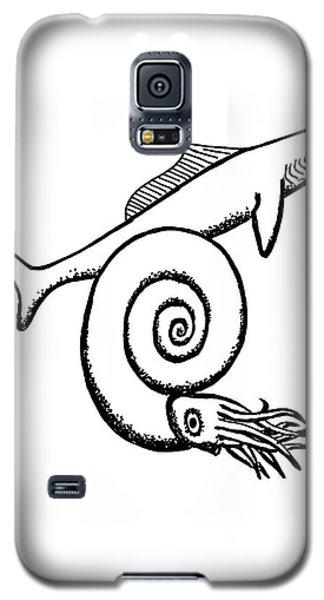 Devonian Shark And Ammonoid Galaxy S5 Case by Richard Bizley