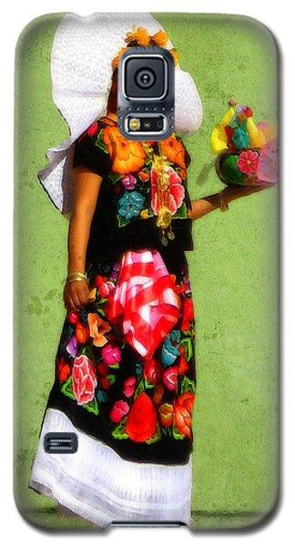 Dia De Los Muertos Dancer 3 Galaxy S5 Case by Timothy Bulone