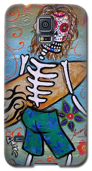 Dia De Los Muertos Surfer Galaxy S5 Case