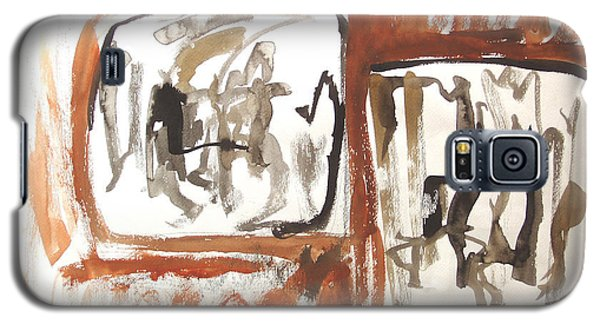 Galaxy S5 Case featuring the painting Dialogue Of Squares by Esther Newman-Cohen