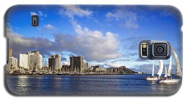Galaxy S5 Case featuring the photograph Diamond Head Sail Boat by Aloha Art