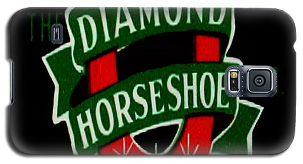 Galaxy S5 Case featuring the digital art Diamond Horseshoe by Cathy Anderson