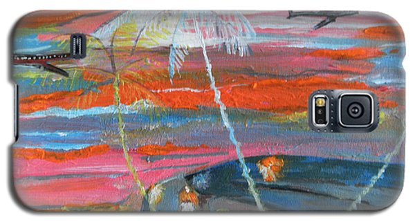 Galaxy S5 Case featuring the painting Diaspora  -  Coming Home by Mudiama Kammoh