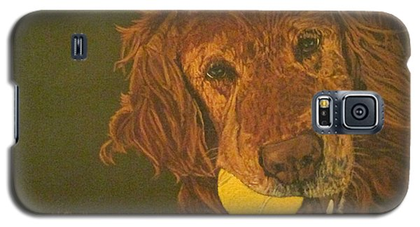 Galaxy S5 Case featuring the painting Did Somebody Say Ball? by Wendy Shoults