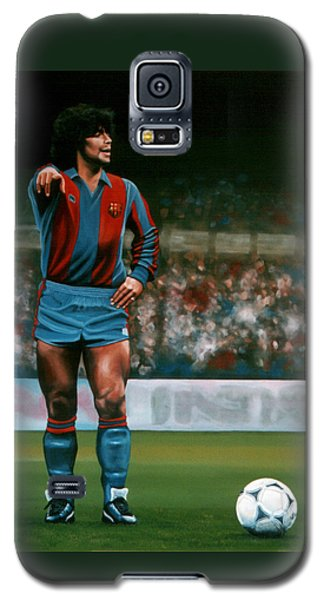Barcelona Galaxy S5 Case - Diego Maradona by Paul Meijering
