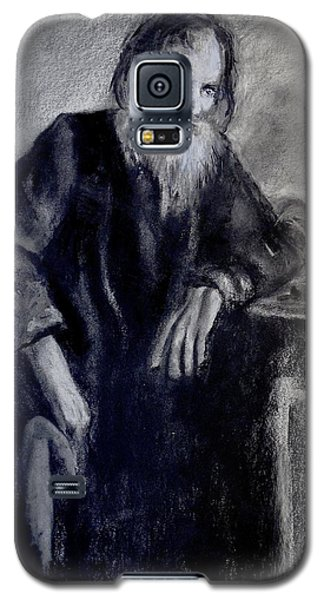 Galaxy S5 Case featuring the drawing Dying Monk - Face To Faith by Eric Dee