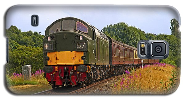Galaxy S5 Case featuring the photograph Diesel Locomotive by Paul Scoullar