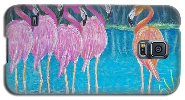Galaxy S5 Case featuring the painting Different But Alike by Susan DeLain