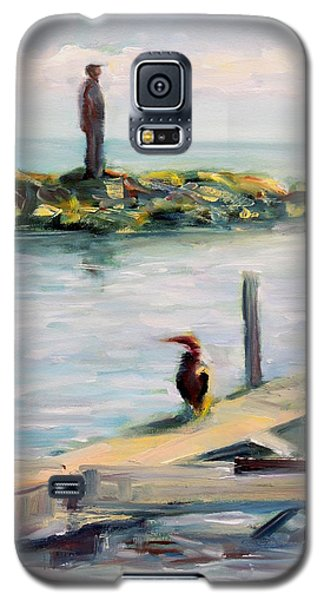 Galaxy S5 Case featuring the painting Different Views by Mary Schiros