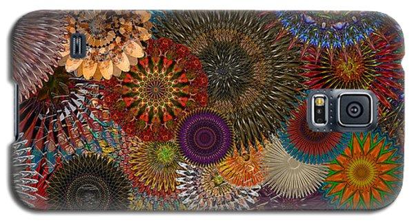 Digital Flowers 001 Galaxy S5 Case by Stuart Turnbull