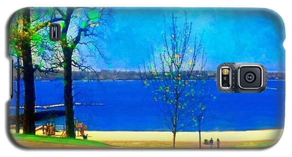 Scenic Galaxy S5 Case - #digitalart #landscape #beach #park by Robin Mead